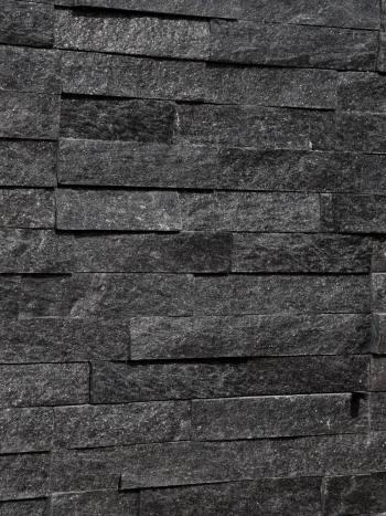 kamenny obklad Obkladový kameň Black Pearl-panel 60x15cm,čierny kremeň