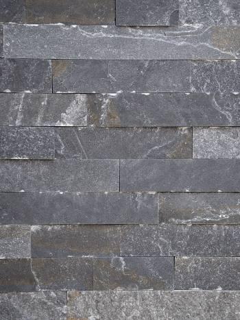 Kamenný obklad Kvarcit Grafit-pásiky 5x7-25cm