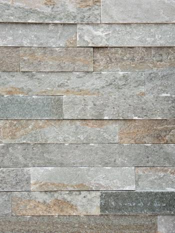 Kamenný obklad Kvarcit Oliv-pásiky 5x7-25cm