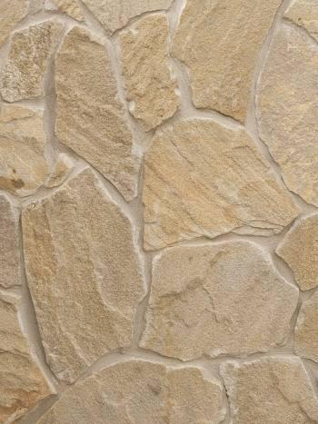 Štiepaný kameň Pieskovec P1-rovný-hrúbka 1-3cm