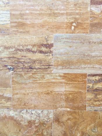 Kamenný obklad/dlažba Travertín GOLD, VC-plnený 61x30,5x1,2 cm