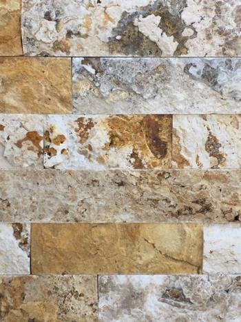 Kamenný obklad Travertín SCABOS pásiky 8x10-40 cm